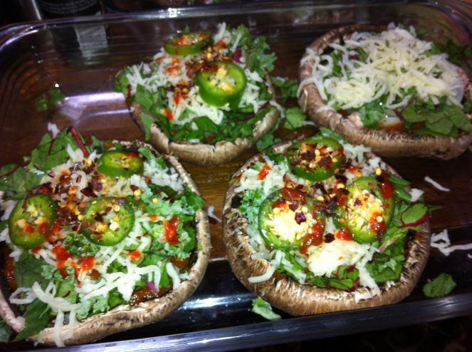 Portobello Mushroom Pizzas!
